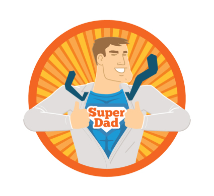 Creative Father's Day Vector material Superman