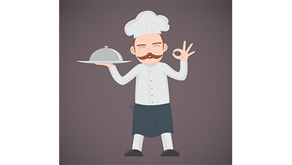 End plate mustache chef vector material