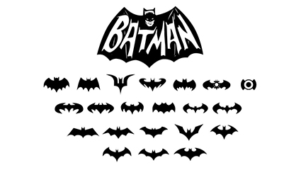 21 Batman BATMAN logo vector