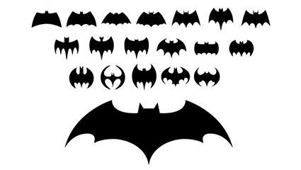19 Batman logo vector