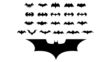 22 Movies Batman logo vector material