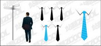 Business people and tie vector material