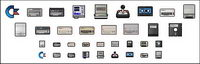 Gif pixel computer peripherals such as small icons