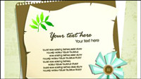 Elegant design elements of collage vector background material -3