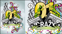 The trend of music posters 04-- vector material