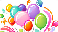 Multi colored balloons vector